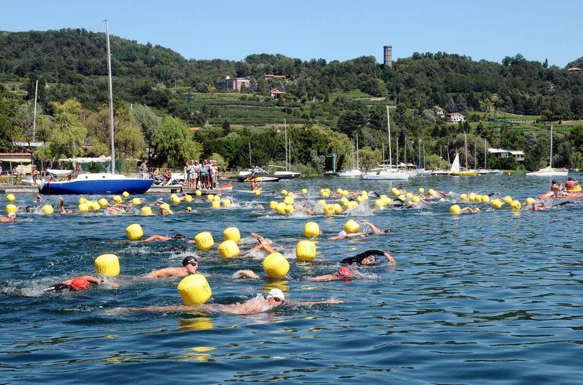 Foto partenza in acqua